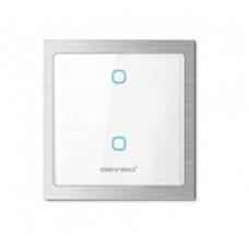 Apagador Doble ON/OFF Inteligente WiFi Orvibo T20W2Z - Color blanco, Inalámbrica, Wi-Fi