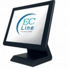 Ec line - Terminal punto de venta - EC-1519 500 WIN - Procesador INTEL J1900 1.8GHZ Quad Core - Memoria 4GB DDRIII 1066/1333exp 8GB - Almacenamiento SATA 500GB - Pantalla LCD 15
