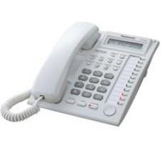 TELEFONO PANASONIC KX-AT7730 HIBRIDO CON PANTALLA DE 1 LINEA, 12 TECLAS DSS Y ALTAVOZ BLANCO