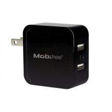 KIT Cargador USB con cable lightning  Mobifree MB-914192 - Pared, Negro