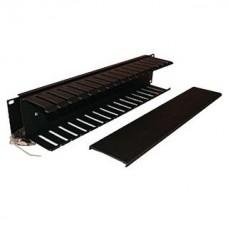 Organizador Horizontal 2UR con Tapa BELDEN 9512-1902N - Negro, 48.3 cm (19