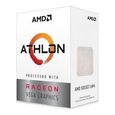 PROCESADOR AMD ATHLON 3000G S-AM4 35W 3.5 GHZ CACHE 5 MB 2CPU CORES / GRAFICOS RADEON VEGA 3GPU / CON VENTILADOR /COMP. BASICO.
