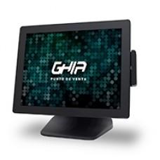 TERMINAL POS PUNTO DE VENTA GHIA 15 PULG TOUCHSCREEN/LECTOR DE BANDA MAGNETICA/J1900/64GB ALMACENAMIENTO/4GB RAM/WINDOWS 10 PRO