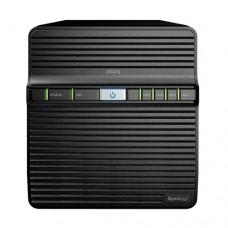 NAS SYNOLOGY DS420J 4 BAHIAS/HASTA 64 TB/DOBLE NÚCLEO CUADRUPLE 1.4 GHZ/ CPU REALTEK RTD 1296 / 1 GB DDR4/LAN GIGABIT X1/USB 3.0 X 2 /3.5 SATA HDD/2.5 SATA HDD/2.5 SATA SSD