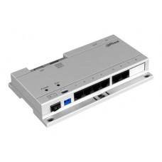 SWITCH POE DAHUA PARA MONITORES IP CON PROTOCOLO DAHUA / CAT 5E / 24VDC / HASTA 6 MONITORES INTERIOR/ INTERCONEXION HASTA 6 EQUIPOS