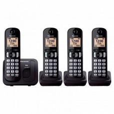 Teléfono Unilínea Inalámbrico PANASONIC KX-TGC214MEB - Escritorio, Negro, Si, Si, TFT