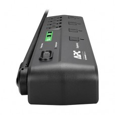 APC SurgeArrest limitador de tensión 8 salidas AC 120 V 1.83 m Negro
