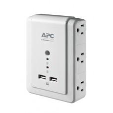 APC P6WU2 limitador de tensión 6 salidas AC 120 V Blanco