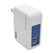 Tripp Lite Cargador USB de 2 Puertos para Pared/Viaje, 5V 3.4A / 17W