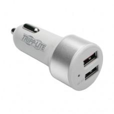 Tripp Lite Cargador USB Doble Puerto para Automovil para Tabletas y Telefonos Celulares con Tecnologia de Carga Rapida Qualcomm 3.0