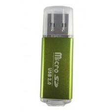 Data Components Lector USB 2.0 lector de tarjeta Verde