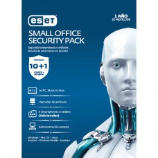 ESET SMALL OFFICE SECURITY PACK, 10 PCS + 5 SMARTPHONE O TABLET + I SERVER + CONSOLA, 1 AÃ?O DE VIG