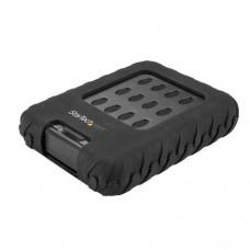 StarTech.com Caja USB 3.1 (10Gbps) USB-C para Discos Duros o SSD SATA de 2,5 Pulgadas - Rugged para Medios Climas Hostiles IP65 - Caja de almacenamiento - 2.5