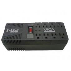 REGULADOR VICA T-02 DE 1200VA/700W 8 CONTACTOS PROTECTOR DE LINEA TELEFONICA GARANTIA 5 AÃ?OS
