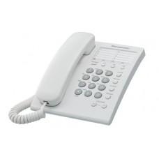Teléfono analógico PANASONIC KX-TS550MEW - Analógica, Escritorio/pared, Color blanco, Incluye Memoria para 10 Números
