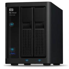 NAS WD MY CLOUD PR2100 20TB/CON 2 DISCOS DE 10TB/2BAHIAS/INTEL PENTIUM N3710 1.6GHZ/4GB/2ETHERNET/2USB3.0/RAID 0-1