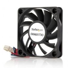 StarTech.com Ventilador Fan para Chasis Caja de Ordenador PC Torre  - 60x10mm - Conector TX3 - Kit de ventilador del sistema - 60 mm