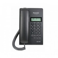 Teléfono analógico PANASONIC - Analógica, Escritorio/pared, Negro, No, Si