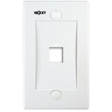 Nexxt - Placa de montaje - blanco - 1 puerto