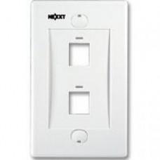 Nexxt - Placa de montaje - blanco - 2 puertos