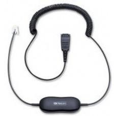 Jabra 88001-04 cable telefónico 0,8 m Transparente, Negro
