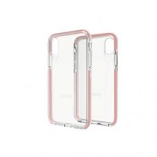Gear4 D3O Piccadilly - Carcasa trasera para teléfono móvil - policarbonato, D3O - transparente, oro rosa - para Apple iPhone X