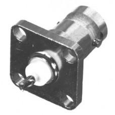 Conector BNC Hembra, Montaje con 4 perforaciones a 18 mm.