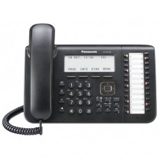 Teléfono Digital PANASONIC - Desk/Wall, Negro, Si, Si, LCD
