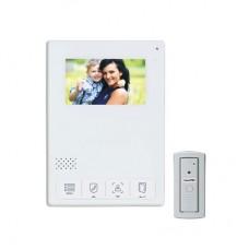 Kit de Videoportero / Frente de Calle Antivandalismo / Cámara 900TVL Para Baja Iluminación / Pantalla Alta Resolución / Control Touch