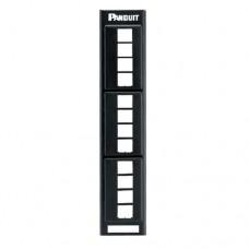 Panel de Parcheo Modular Keystone (Sin Conectores), de Montaje en Pared usando Accesorio WB89D, 12 Puertos