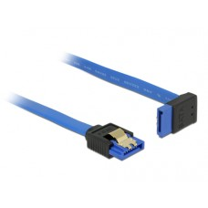 DeLOCK 84994 cable de SATA 0,1 m SATA 7-pin Negro, Azul