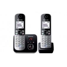 Panasonic KX-TG6822 Teléfono DECT Negro, Plata Identificador de llamadas