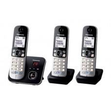 Panasonic KX-TG6823 Teléfono DECT Negro, Plata Identificador de llamadas