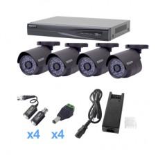 Epcom KEVTX8T4B kit de videovigilancia Alámbrico 4 canales