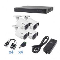 Epcom KEVTX8T4BW kit de videovigilancia Alámbrico 4 canales
