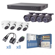 Epcom KEVTX8T4B/4EW kit de videovigilancia Alámbrico 8 canales