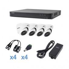 Epcom KEVTX8T4EW kit de videovigilancia Alámbrico 4 canales