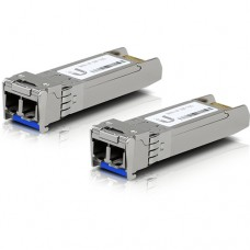 UFiber Módulo SFP+ 10G, transceptor MiniGibic MonoModo 10 Gbps, distancia 10 km, conectores LC, paquete de 2 piezas