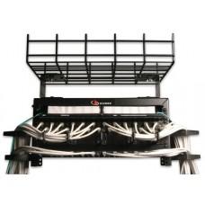 Siemon CTR-04-01 canaleta para cable Bandeja portacables recta Negro