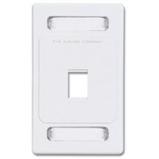 Siemon MX-FP-S-01-02B placa de pared y cubierta de interruptor Blanco