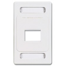 Siemon MX-FP-S-02-02B placa de pared y cubierta de interruptor Blanco