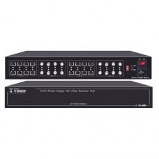 300 METROS VIDEO+PODER / 16 Canales / TODO INCLUIDO PARA RACK /  Para transmisin de alimentacin ( de 36 Vcd a 12 Vcd) y video (HD-TVI) / 4K / SIN RUIDO / INSTALACIN LIMPIA