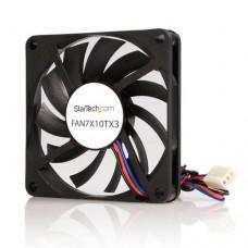 StarTech.com Ventilador de Repuesto con Rodamiento de Bolas para Disipador de Procesador o Caja Chasis Ordenador - 70mm - TX3 - Ventilador para caja - 70 mm - negro
