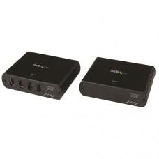 StarTech.com Extensor de 4 Puertos USB 2.0 por LAN Gigabit o Conexión Directa de Cable Ethernet RJ45 Cat5e Cat6 - 100m