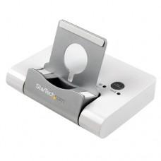 StarTech.com Concentrador USB 3.0 de 3 Puertos - Hub con Puerto de Carga Rápida (2,1A) y Base para Portátiles y Tablets con Windows