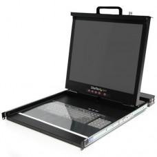 StarTech.com LCD Rack Console - Consola KVM con conmutador KVM - 16 puertos - PS/2 - 19