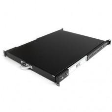 StarTech.com Estante Bandeja Deslizante Telescópica para Armario Rack Servidores 0.55m de Profundidad - Estante de teclado para bastidor - negro - para P/N: RK1536BKF, RK1836BKF, RK2433BKM, RK2537BKM, RK4236BKB, RK4242BK24, RK4242BK30