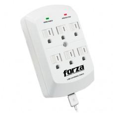 Forza Power Technologies - Power adapter - AC / USB - Plug-in module - AC 110/120 V - 6 Tomas de Corriente - 2 USB ports