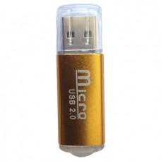 Lector MicroSD BROBOTIX 345673C - Color blanco, USB 2.0