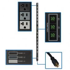 PDU TRIPP-LITE PDU3MV6L2120LV - Metered, 0U, Vertical, Acero
